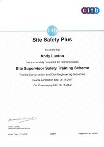 training achievements certificate supervisor safety industries construction