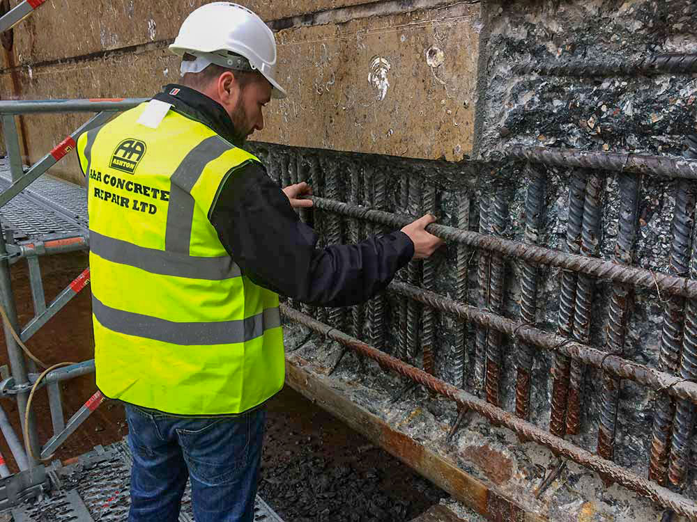 precision reinforcement anchoring works concrete repairs