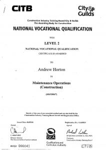 qualification maintenance operations achievements training