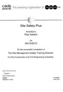 training achievements paul ashton safety management scheme construction civil engineering industry