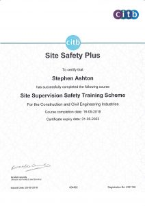 achievements site safety training certificate scheme