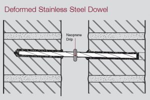 mastic jointing pointing stainless steel dowel deformed neoprene concrete repairs materials